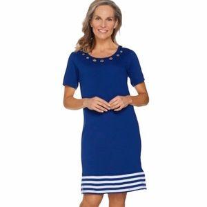 NWOT Quacker Factory Blue Dress